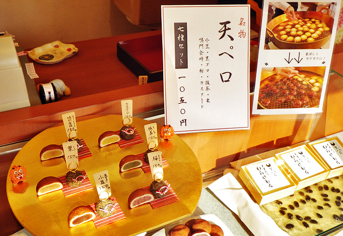 「神戸天ペロ」の店頭にお菓子が並んでいる様子