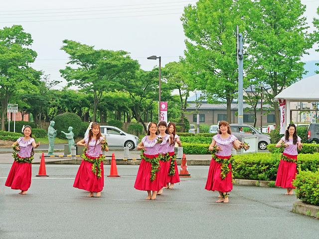 アドベリー収穫祭の催しの様子(ハワイアンフラ)