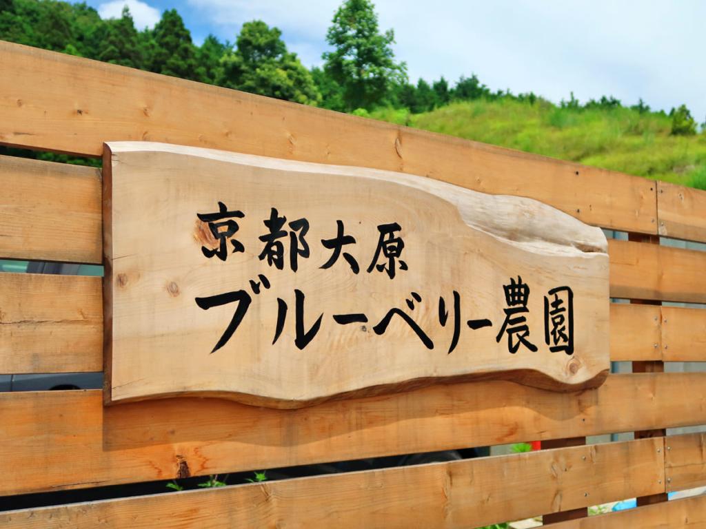 「京都大原ブルーベリー農園」の入り口看板の写真